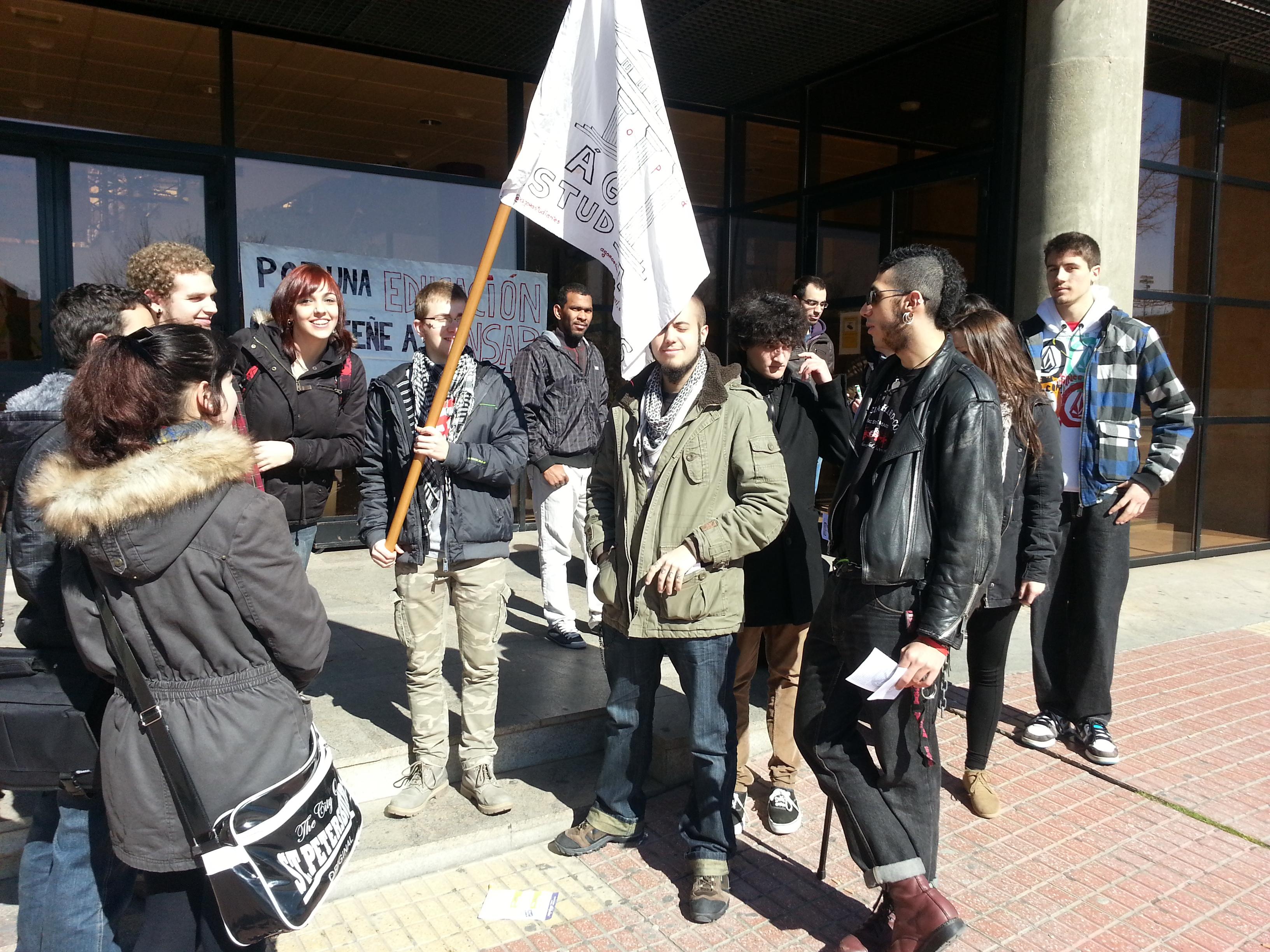 Protestas en la Facultad de Filosofía