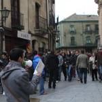 Lectura, en las calles, de textos de filosofía